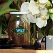 wet caffè fresco per moka in barattoli di vetro